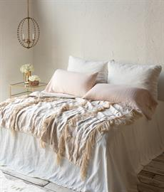 The Valentina Wedding Blanket in Pearl, elegant and dreamy.
