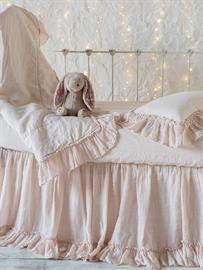 Our Linen Whisper Baby Bedding in Pearl.