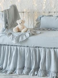 Our Linen Whisper Baby Bedding in Cloud.