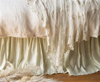 Our Paloma Bed Skirt boasts clean lines and a beautiful pearly luminescence.