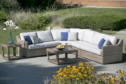 This transitional concealed design is meant to be admired and appreciated for years.  Featured with low back design, curved armrest profile, double wall textured resin over heavy gauge, rust-resistant aluminum frames, Auckland truly sets the perfect spotlight for any entertaining and casual occasions.  Deep, generously proportioned cushions in quick-dry reticulated outdoor foam provide supreme comfort.  Sectional pieces include the interlocking unit that helps to secure the attachment with one another. Au