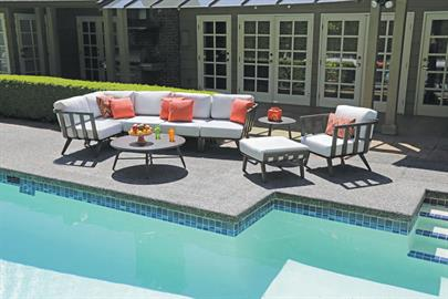 With its modular, high-style design, the Seville collection is a winner in every exterior space. Tailor-made contoured cushioning elevates the stunning aesthetic curves and seamless beauty in craftsmanship. Sophisticated, ultra modern and versatile, Seville can be transformed into any deep seating, multi-configuration to suite any outdoor setting.