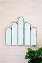 Metal mirror with five arches
