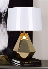 Delta Table Lamp in a Polished Gold Glaze