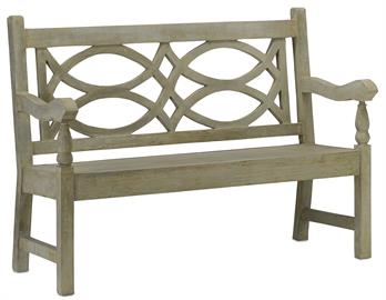 The Hatfield Bench is a traditional English garden design made of concrete in a Portland finish. This treatment adds the illusion of age to this cement bench with British character and American roots. Our concrete furnishings line has expanded greatly over the years so be sure to search for others if this is not your style.