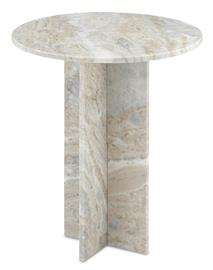 Made entirely of natural marble, the Harmon Accent Table is a timeless design. The gray, white, and blush veining in the marble will introduce instant texture into a space but the clean lines of the stone occasional table make it a pared-down choice. Because marble is a natural material, the patterns on each of these marble accent tables will vary