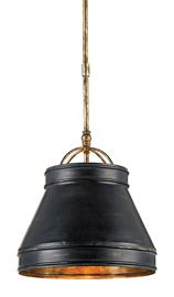 The Lumley Black Pendant has an urban edge to its design with its hand-finished frame in French black and a Pyrite bronze interior. The petite shade extends from a stem with an adjustable hanging length to make this black pendant terrific for grouping at different heights. We also offer the Lumley in nickel and brass finishes.