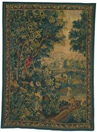 "Hand woven aubusson tapestry.  58"" X 77"""