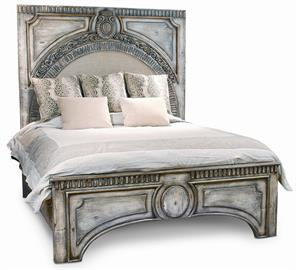 In the last year the Amelie bed has proved to be a winner for Peninsula Home Collection. The Amelie Bed was designed with the architecture lover in mind. Although the presence is grand the Amelie Bed is hand carved by skilled artisans and displays a delicate feminine ambiance. The rich linen upholstered in the archway softens the sharp architectural details. Finished in a light stone wash hand applied by our most talented finishers, the Amelie is sure to continue being a Peninsula Favorite in 2015. The be
