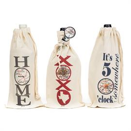 Gift your wine with one of our customizable map wine bags and wine toppers