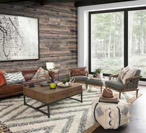 Celebrate the outdoors with sustainably sourced wood furniture, exposed grain, and natural fiber textiles. Offering a retreat from the city, Northwest Origins pairs colorways, textures and patterns inspired by nature with mid-century modern influenced designs to create inviting and sustainable sanctuaries.