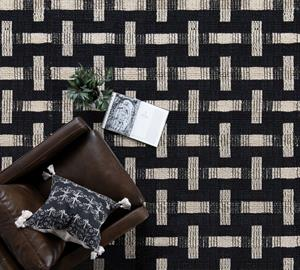 Style any space with the sustainably sourced jute of the Preston Rug. Its dyed black and natural fibers are handwoven into a contemporary block pattern that provide texture and style to any space.