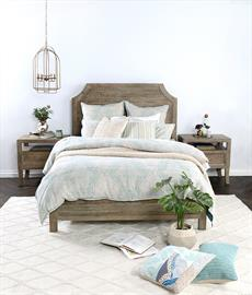 A classic design with contemporary convenience, Luri bedding sets are made with stonewashed Belgian linen and include four interior duvet ties to minimize shifting. Its printed pattern is inspired by Moroccan rug design and lends a vintage feel to the set that will enhance the look of any bedroom.