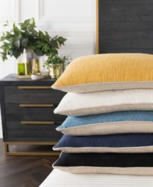 Easily add color and comfort with these solid colored essentials. Made with soft to the touch textured cotton, Alba will add understated style to any space.