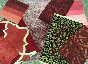 Assortment of area and custom rugs